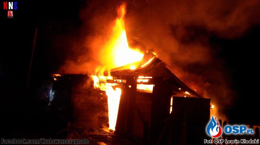 Pożar budynku w Kudowie - Zdrój OSP Ochotnicza Straż Pożarna