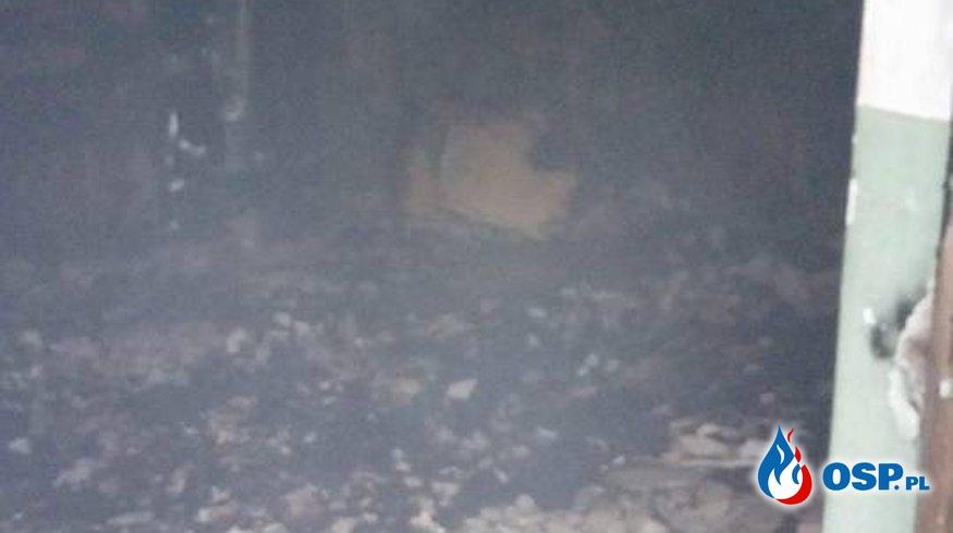 Pożar pustostanu PKP OSP Ochotnicza Straż Pożarna