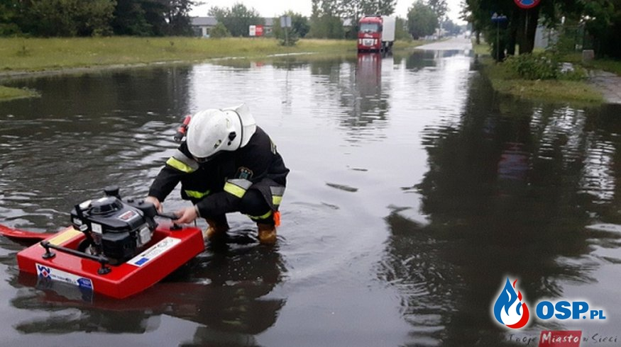 Ulewne deszcze i burze OSP Ochotnicza Straż Pożarna