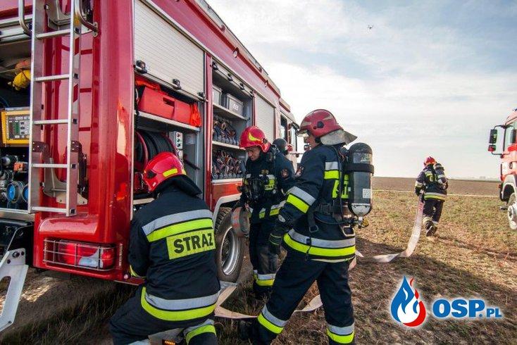 """""""Gazociąg Nysa 2018"""". Wspólne ćwiczenia ochotników i strażaków PSP OSP Ochotnicza Straż Pożarna"""