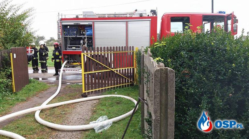 Pożar kotłowni - ul. Sikorskiego w Rozkochowie OSP Ochotnicza Straż Pożarna