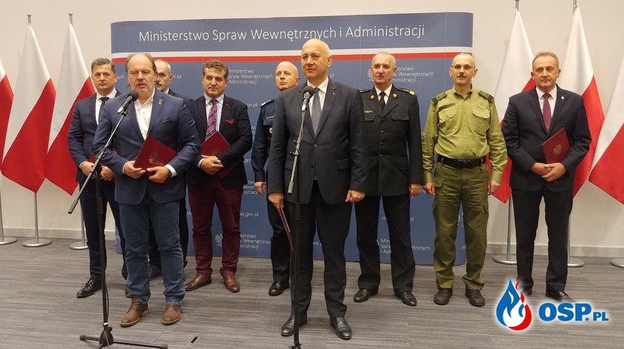 Koniec protestu w straży pożarnej i policji. Jest porozumienie z MSWiA. Co ustalono? OSP Ochotnicza Straż Pożarna