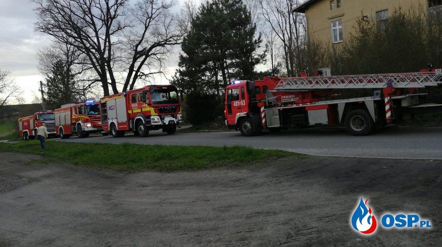 ZADYMIONY BUDYNEK MIESZKALNY OSP Ochotnicza Straż Pożarna