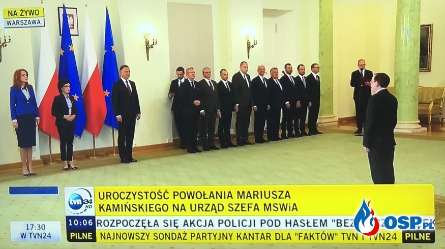 Mariusz Kamiński powołany na szefa MSWiA OSP Ochotnicza Straż Pożarna