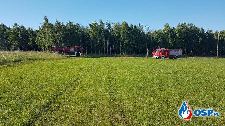 Pożar trawy w Lipich Górach (gm. Babiak) OSP Ochotnicza Straż Pożarna