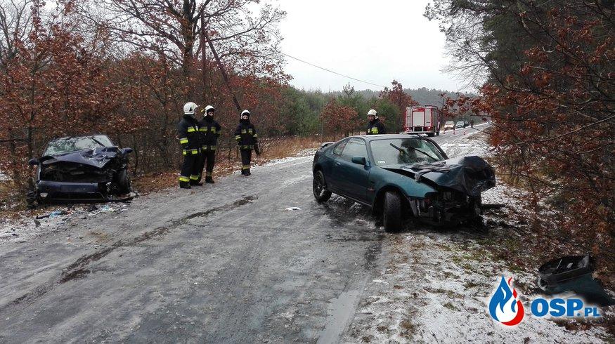 ALARM!!! Wypadek drogowy-03.01.2017 OSP Ochotnicza Straż Pożarna