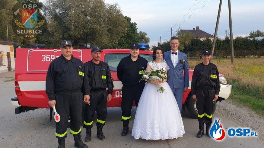 Druhna i Druh wstąpili w związek małżeński OSP Ochotnicza Straż Pożarna