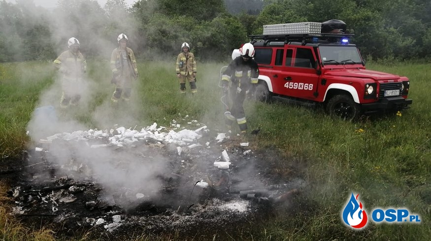 OGNISKO ŚMIECI OSP Ochotnicza Straż Pożarna
