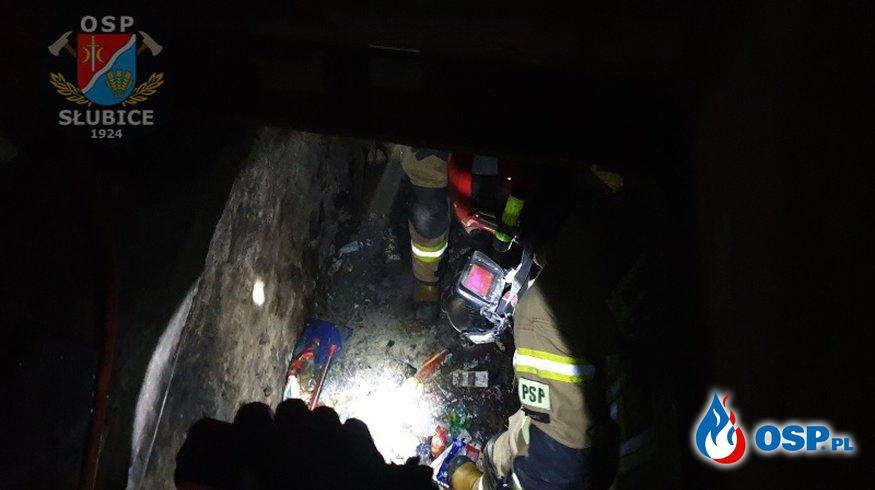 Pożar w piwnicy budynku mieszkalnego [WIDEO] OSP Ochotnicza Straż Pożarna