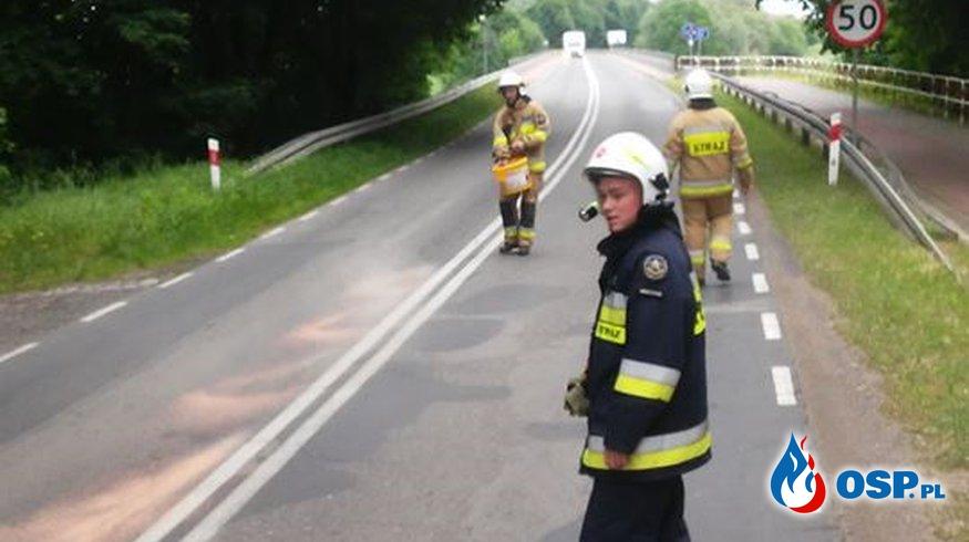 Plama oleju OSP Ochotnicza Straż Pożarna