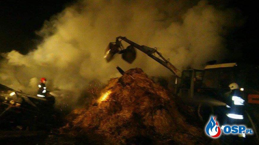 Pożar stodoły w Rudzie OSP Ochotnicza Straż Pożarna