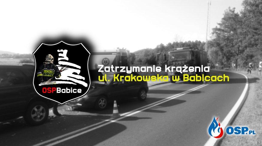Zatrzymanie krążenia - ul. Krakowska w Babicach OSP Ochotnicza Straż Pożarna