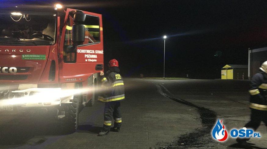 220/2020 Plama oleju na parkingu OSP Ochotnicza Straż Pożarna