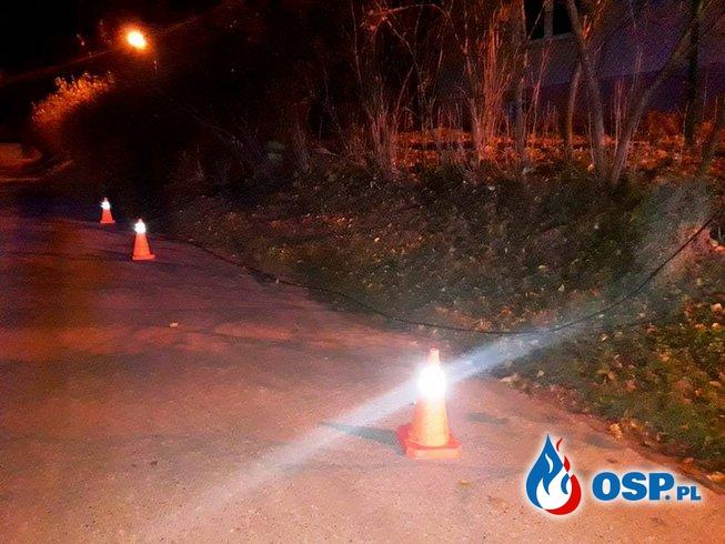 Konserwacja pomników oraz zerwany przewód energetyczny OSP Ochotnicza Straż Pożarna
