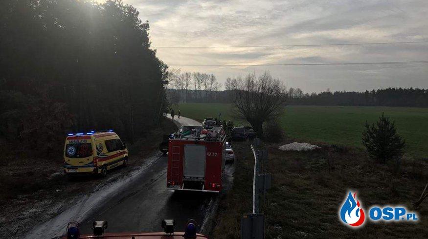 Niebezpieczna kolizja OSP Ochotnicza Straż Pożarna