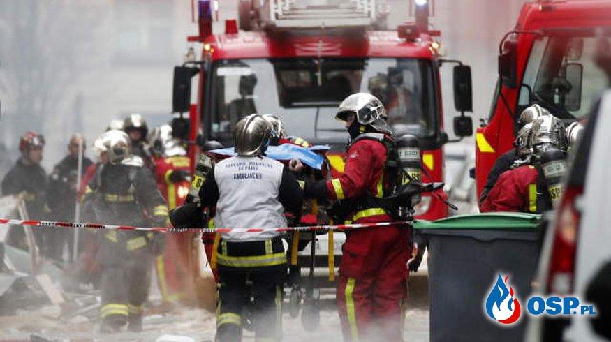Dwóch strażaków zginęło w wybuchu gazu w centrum Paryża OSP Ochotnicza Straż Pożarna