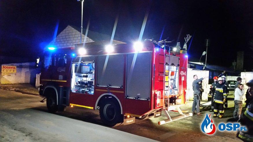 Pożar pojemnika OSP Ochotnicza Straż Pożarna