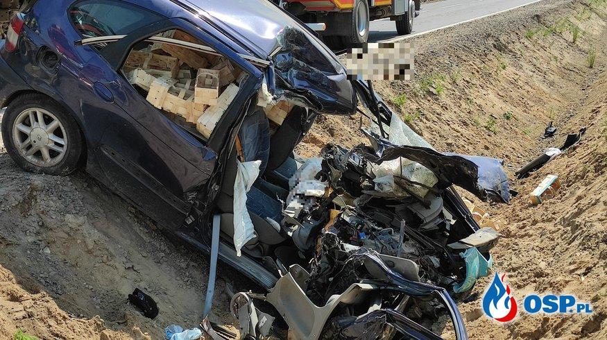 Dwie ofiary śmiertelne, wypadek na DK7 OSP Ochotnicza Straż Pożarna