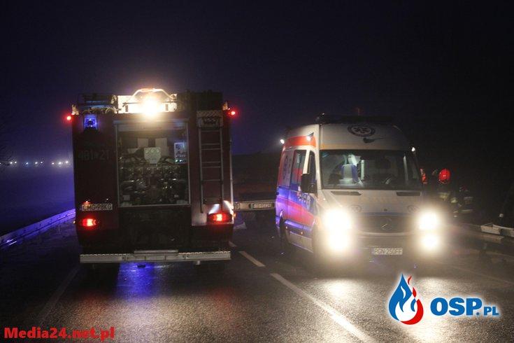 Chwila zgrozy na DK 15 !! OSP Ochotnicza Straż Pożarna