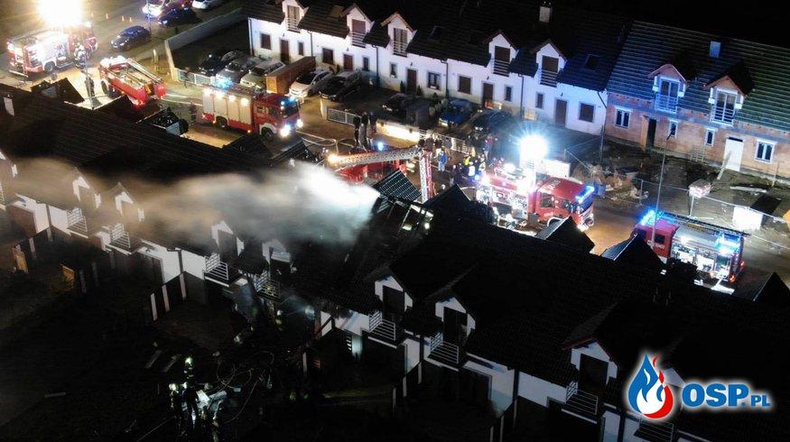 Brodowo - pożar szeregowców OSP Ochotnicza Straż Pożarna