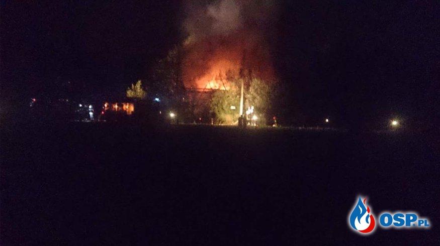 Pożar budynku w Sułkowicach. OSP Ochotnicza Straż Pożarna