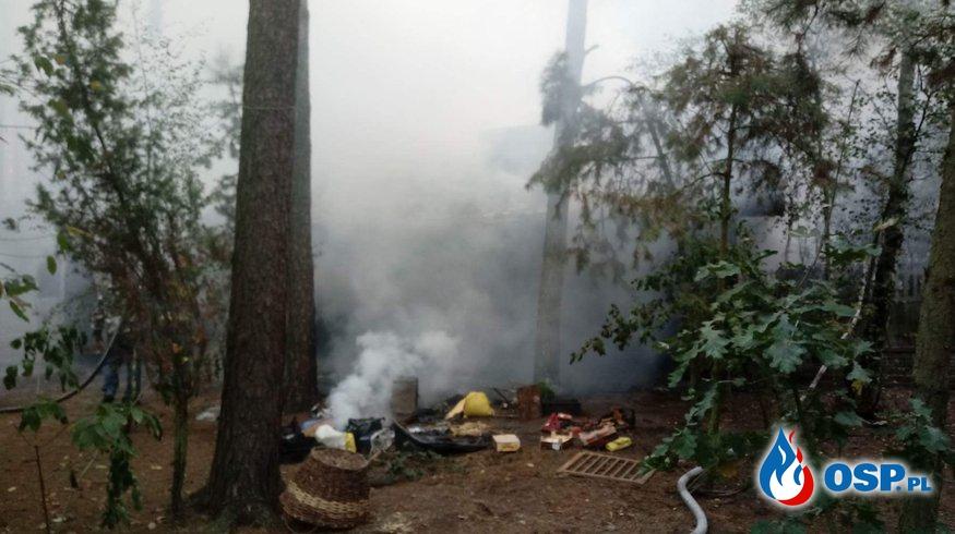 Pożar budynku gospodarczego w Toporowie  OSP Ochotnicza Straż Pożarna