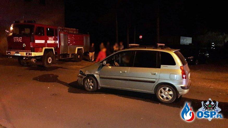 Pijany kierowca wjechał w wóz OSP, jadący do akcji OSP Ochotnicza Straż Pożarna