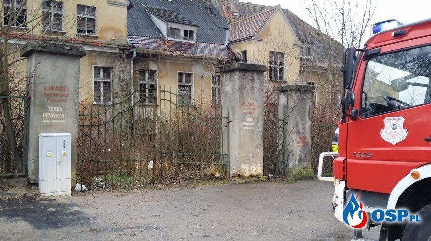 Pożar starego szpitala OSP Ochotnicza Straż Pożarna