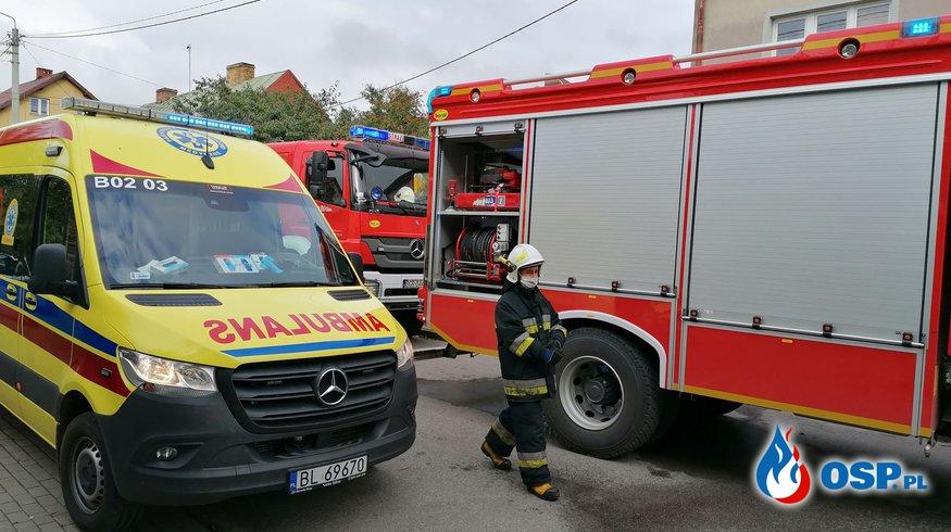 Pożar w Szczuczynie OSP Ochotnicza Straż Pożarna