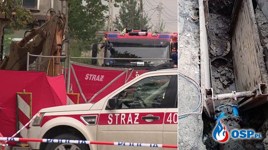 Wybuch podczas prac ziemnych na Śląsku. Jedna osoba nie żyje, trzy są ranne. OSP Ochotnicza Straż Pożarna