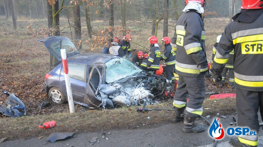 Groźny wypadek pod Opolem. Ciężarna kobieta trafiła do szpitala. OSP Ochotnicza Straż Pożarna