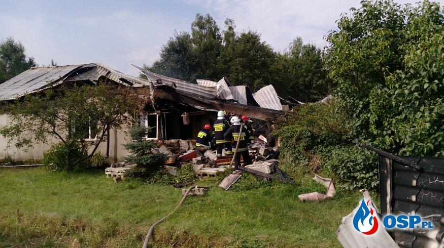 Wybuch butli z gazem w budynku mieszkalnym OSP Ochotnicza Straż Pożarna