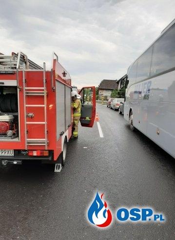 Kolizja samochodu osobowego na DK7 - 18 lipca 2020r. OSP Ochotnicza Straż Pożarna