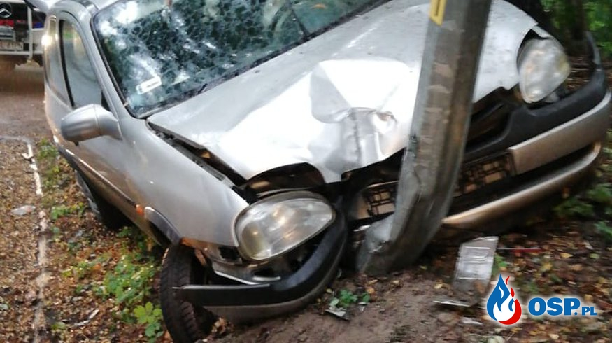 01.09-Wypadek drogowy w Osiecznicy OSP Ochotnicza Straż Pożarna