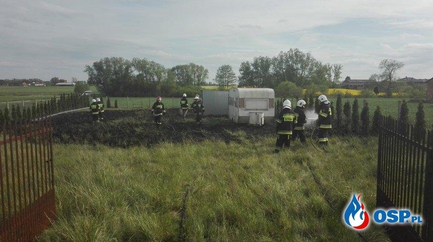 Pożar trawy na działce letniskowej OSP Ochotnicza Straż Pożarna