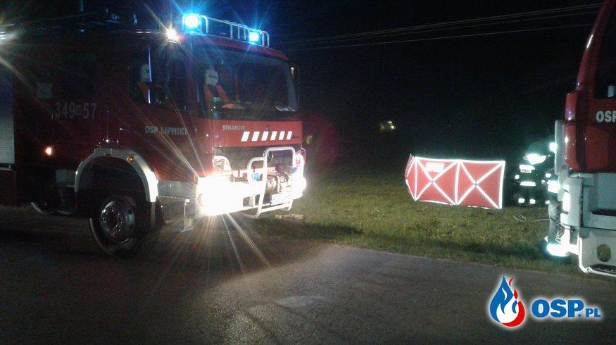 Śmiertelny wypadek w Gadomskich . Nie żyje 23-letni mieszkaniec gminy Łyse - OSP Lipniki OSP Ochotnicza Straż Pożarna