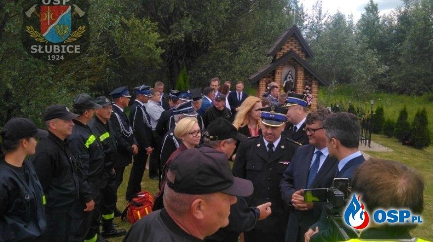 Wiceminister MSWiA z wizytą na terenie Gminy Słubice OSP Ochotnicza Straż Pożarna