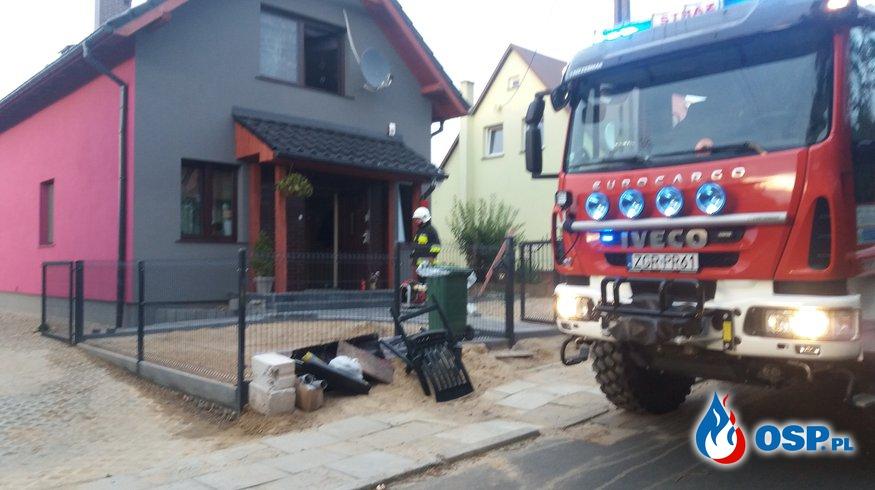 Pożar kominka w domu jednorodzinnym  OSP Ochotnicza Straż Pożarna