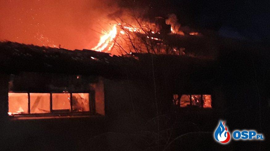 Pożar opuszczonej chlewni po raz drugi OSP Ochotnicza Straż Pożarna