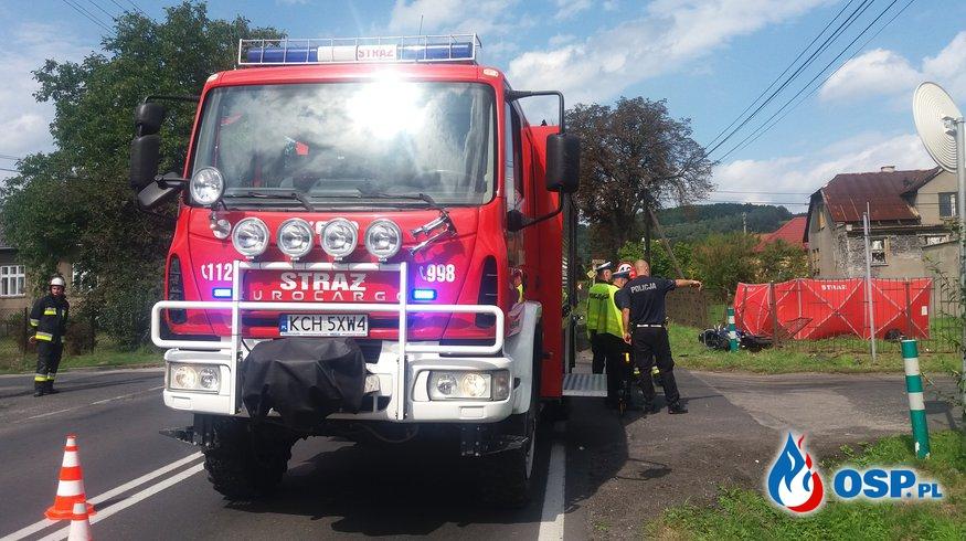 Śmiertelny wypadek - ul. Zakopiańska w Babicach OSP Ochotnicza Straż Pożarna