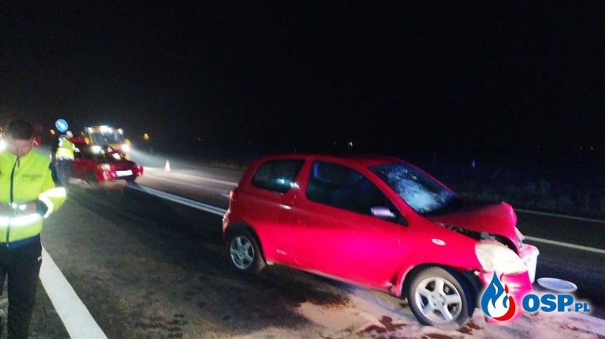 Wypadek drogowy na DK 11 - Koszuty Huby OSP Ochotnicza Straż Pożarna