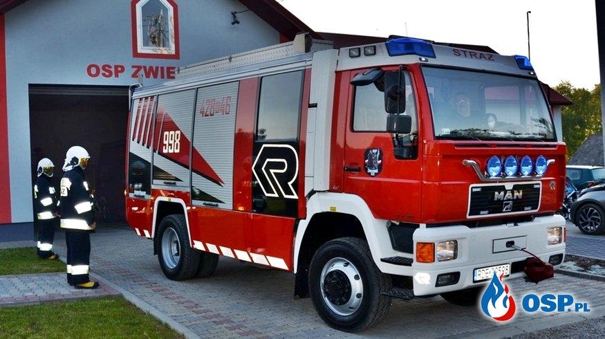 Z Austrii do OSP Zwiernik. Strażacy pozyskali wóz Steyr-MAN z zabudową Rosenbauer. OSP Ochotnicza Straż Pożarna