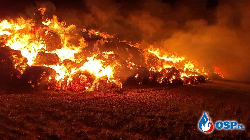 Pożar sterty słomy na obwodnicy Białej OSP Ochotnicza Straż Pożarna