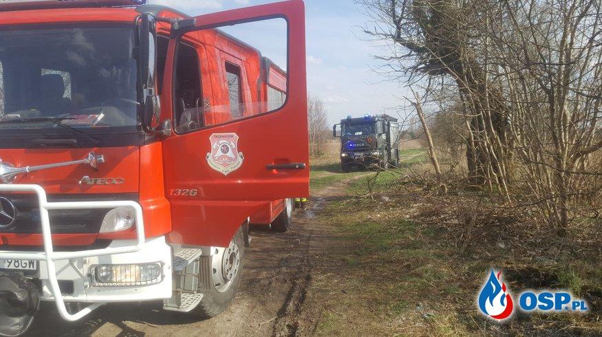 Pożar nieużytków ul. Kołobrzeska Trzebiatów OSP Ochotnicza Straż Pożarna