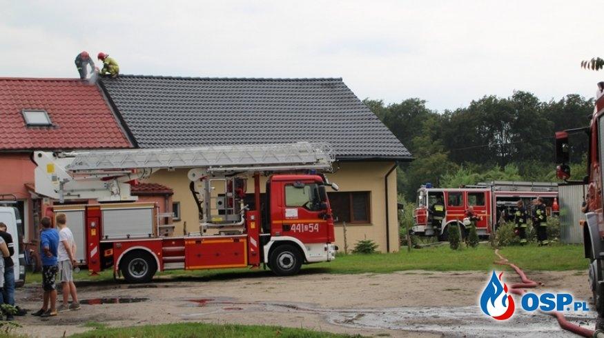 Pożar budynku wielorodzinnego. Cerkwica 07.08.2019r. OSP Ochotnicza Straż Pożarna