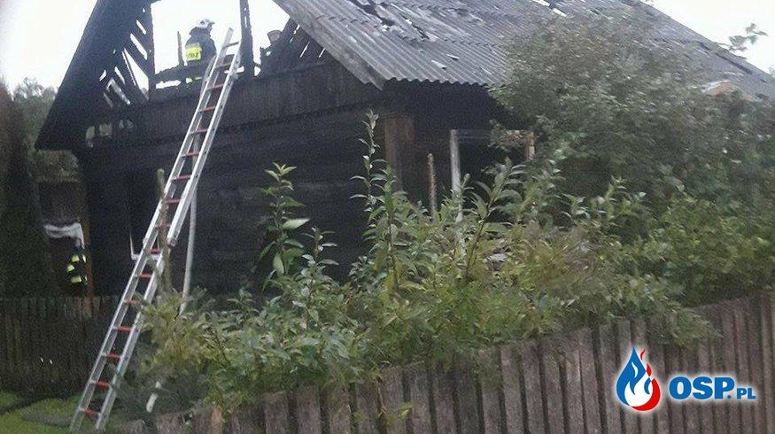 Pożar Domu OSP Ochotnicza Straż Pożarna