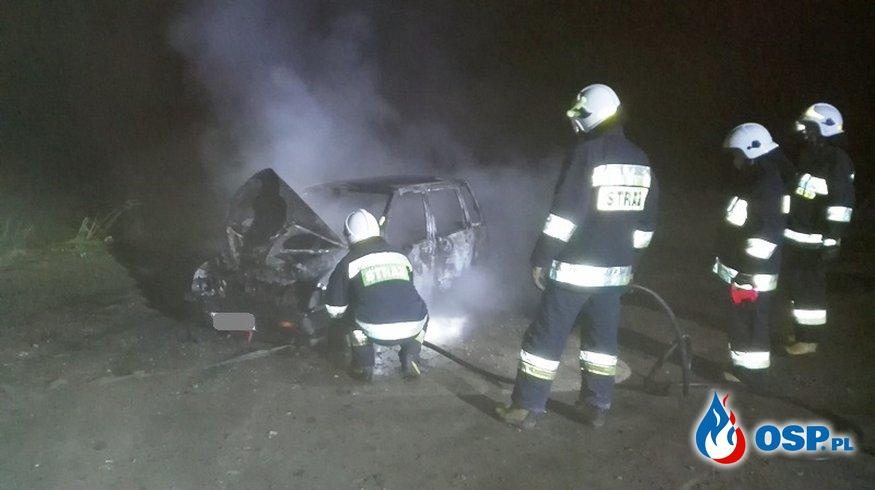 Pożar daewoo tico w Piotrowcu OSP Ochotnicza Straż Pożarna