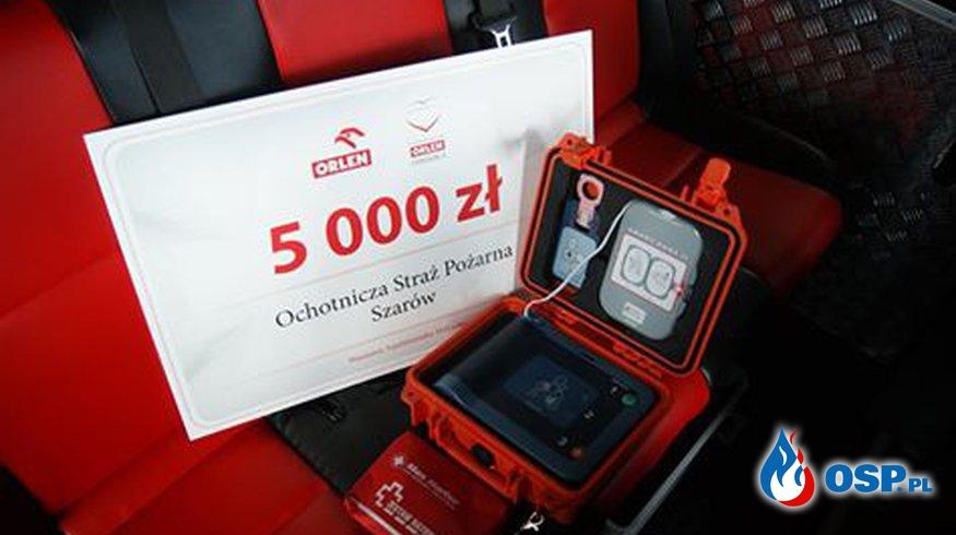 OSP Szarów wyposażona w AED ! OSP Ochotnicza Straż Pożarna