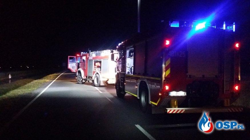 Wypadek na trasie Biała – Krobusz, DW 414 OSP Ochotnicza Straż Pożarna