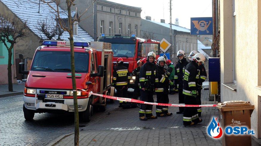 Podejrzana paczka na trzemeszeńskiej poczcie!!! OSP Ochotnicza Straż Pożarna